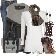 """""""Turtle Neck & Scarf"""" by mk-style on Polyvore"""