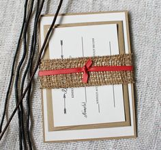 The perfect rustic wedding invitation, These burlap wedding invitations are handmade. these invitations are the perfect way to invite your family