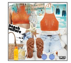 """""""Yoins [Crochet top]"""" by meljoh ❤ liked on Polyvore featuring Alexander Wang, Straw Studios and Billabong"""