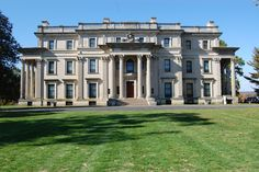 Frederick William Vanderbilt, grandson of Cornelius Vanderbilt hired McKim, Mead and White Architects to design this ca.1896 Gilded Age mansion in Hyde Park, NY