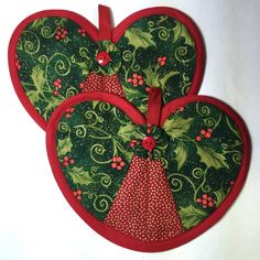 A personal favorite from my Etsy shop https://www.etsy.com/listing/214033409/christmas-holly-heart-hot-pad-pair-pot