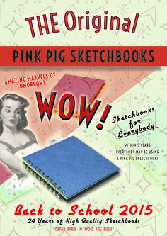 Back to School 2015 is well underway!!  Its not too late to grab your Sketchbooks for the New Academic Year.  Students Shop Mail Order here;  the-pink-pig.co.uk Pink Pig Sketchbook, 24 Years, Sketchbooks, Back To School, Students, Shop, Sketch Books, Entering School, Back To College