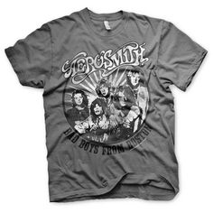 Aerosmith - Bad Boys From Boston heren unisex T-shirt grijs - Band me