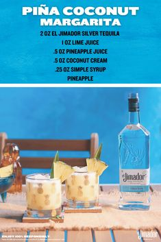 Shake up summer. Combine all ingredients into shaker with ice and shake vigorously. Strain into glass with fresh ice and garnish with pineapple wedge or a pineapple leaf if you're feeling fancy. Cheers! Bar Drinks, Alcoholic Drinks, Beverages, Summertime Drinks, Summer Drinks, Jimador Tequila, Best Mixed Drinks, Coconut Margarita, Hey Bartender