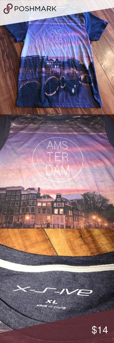 Amsterdam T-shirt Cool colorful Amsterdam city T-shirt perfect condition Second picture shows color best Urban Outfitters Shirts Tees - Short Sleeve
