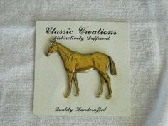 Classic Creations Handcrafted Horse Pin Brooch