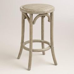 One of my favorite discoveries at WorldMarket.com: Wood and Rattan Syena Backless Counter Stool