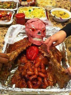 interesting for a halloween tailgate or bondfire party scary isnt it - Scary Dishes For Halloween