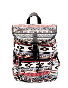 Bershka Ukraine - Ethnic print backpack