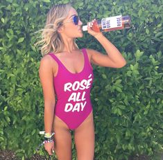 Rosé all day swimsuit!- See our favorite Rosé Party Ideas on B. Yes Way Rose, Rose Cookies, Wine And Cheese Party, Rose Girl, Little Rose, Woman Wine, Adult Birthday Party, Party Food And Drinks, Summer Parties