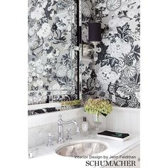 1 new message Powder Room Wallpaper, Smoke Wallpaper, Bathroom Wallpaper, Fabric Wallpaper, Pattern Wallpaper, Luxury Flooring, New England Style, Interior Design Studio, Chiang Mai