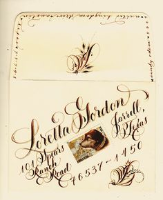 Karin Gable  Envelopes Calligraphy And Envelope Art