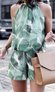 green romper--this is lovely. I think I could even get away with it at work with a sweater