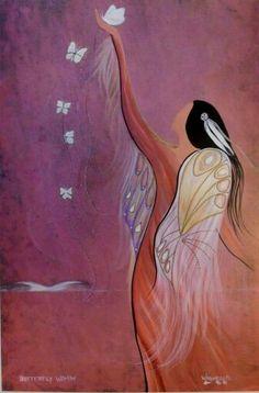 I Walk in Peace ~ Nanye-hi Little Star✯༻  WILD WOMAN SISTERHOOD™ #sisterhood #wildwomansisterhood  [Butterfly Woman by Betty Albert-Lincez]