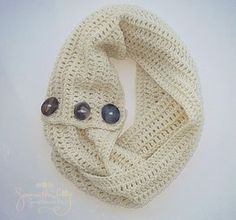 Infinity Scarf Infinity Cowl Crochet Cowl by SamanthaLillySweethe, $28.00