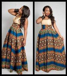 African Dresses Ankara Long Gown - DeZango Fashion Zone