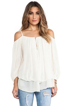 Jen's Pirate Booty Gauze Bowie Blouse in Natural | REVOLVE