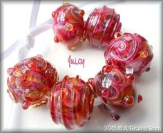 A Bead is Born handmade lampwork glass beads by abeadisborn, $24.50 <3<3<3 @