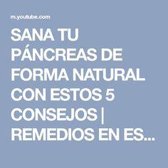 SANA TU PÁNCREAS DE FORMA NATURAL CON ESTOS 5 CONSEJOS | REMEDIOS EN ESPAÑOL - YouTube