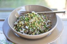 Rice and lentils with pistachios