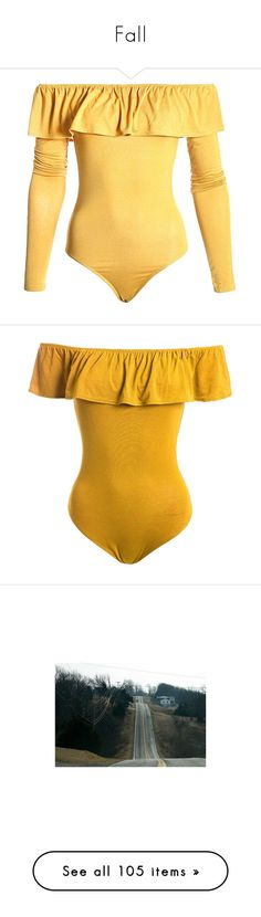 """""""Fall"""" by missjchapman ❤ liked on Polyvore featuring intimates, shapewear, bodysuit, tops, momma, shirts, mustard, bodysuits, body and pictures"""