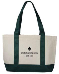Gamma Phi Beta Spade Bag by Adam Block Design | Custom Greek Apparel & Sorority Clothes | www.adamblockdesign.com