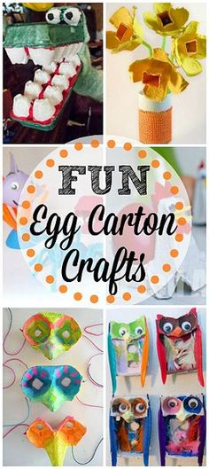 Egg Carton Crafts for Kids #DIY #Recycle #Upcycle art projects | CraftyMorning.com
