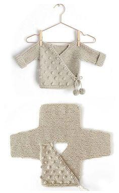 Kimono Jacket - Free Pattern (Beautiful Skills - Crochet Knitting Quilting) - K., anleitungen kostenlos baby jacke Kimono Jacket - Free Pattern (Beautiful Skills - Crochet Knitting Quilting) - K. Baby Knitting Patterns, Knitting Stitches, Baby Patterns, Free Knitting, Crochet Patterns, Crochet Ideas, Kids Knitting, Crochet Tutorials, Free Sewing