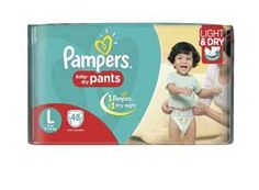 Pampers Large Size Diaper Pants Pack of 48 At Rs.559
