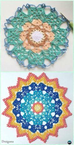 Crochet Solar Brilliance Doily Free Pattern - #Crochet; Doily Free Patterns