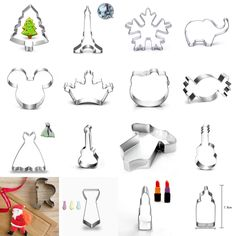 Xmas Stainless Steel Cookie Cutter Biscuit Jelly Party Fondant Cake Mold #Unbranded #36Stykestochoose