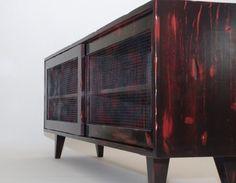 Old World/Industrial Cabinet - modern - buffets and sideboards - kansas city - Belak Woodworking LLC