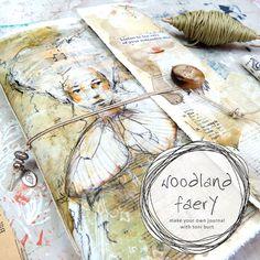 woodland faery art journal online class - create your own art journal, junk journal, fairy art, butterfly wings, mixed media art journal Journal Covers, Art Journal Pages, Art Journals, Junk Journal, Journal Ideas, Poetry Journal, Tea Bag Art, Online Art Classes, Pen And Watercolor