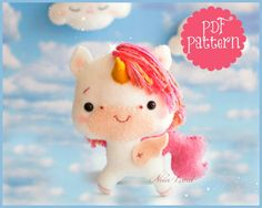Unicorn PDF Pattern by Noialand on Etsy