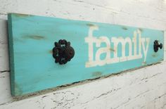 Rustic Shabby Chic Coat Rack and Sign by ThePinkToolBox on Etsy, $35.00