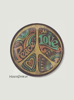 Przypinka pacyfka PEACE LOVE | Hippie Style
