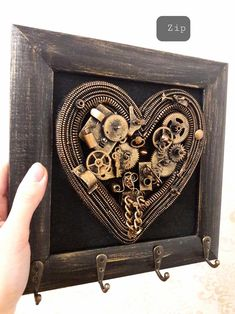 Heart with wings Anniversary gift for boyfriend Steampunk Wedding anniversary gift for wife anniversary gift for husband handmade gifts Anniversary Gifts For Husband, Wedding Anniversary, Steampunk Furniture, Steampunk Heart, Turtle Gifts, Steam Punk Jewelry, Steampunk Wedding, Valentines Gifts For Him, Hanging Jewelry