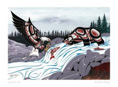 Cycle of Life by Richard Shorty kp Haida Kunst, Arte Haida, Haida Art, Native American Artwork, Native American Artists, Arte Tribal, Tribal Art, Native American Horoscope, Cycle Of Life