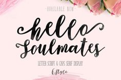 Soulmates by fontasticlab on @creativemarket