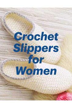 Crochet Slipper patterns for women, men and kids - Crochet Tongs Crochet, Annie's Crochet, Crochet Gifts, Kids Crochet, Doilies Crochet, Crochet Blouse, Crochet Sandals, Crochet Shoes, Crochet Clothes