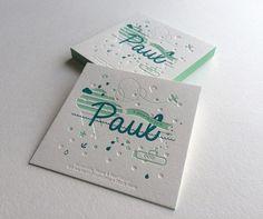 Impression : 2 couleurs en débossage + 1 débossage pur recto seul Papier : naturel 500 g  #LoveLetterpress