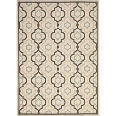 Safavieh Courtyard Collection CY7938-256A18 Beige and Black Indoor/ Outdoor Area Rug (9' x 12')