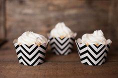 Black Chevron Cupcake Wrappers