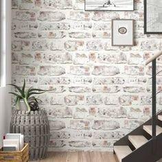interior faux brick wall - Google Shopping Wallpaper Over Wallpaper, Brick Wallpaper Roll, Peel And Stick Wallpaper, Wallpaper Ideas, White Wash Brick Fireplace, Faux Brick Walls, Faux Brick Backsplash, Adhesive Backsplash, Brick Wall Kitchen