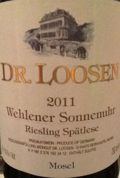 Mosel is where it is at! This dry riesling is the perfect partner in crime for Sushi Night!   https://www.drync.com/bottles/2011-dr-loosen-wehlener-sonnenuhr-riesling-spatles