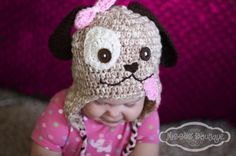Little puppy dog hat.....just adorable!!!