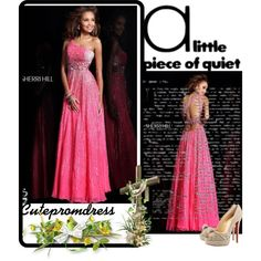 Designer Clothes, Shoes & Bags for Women Cute Prom Dresses, Formal Dresses, Sherri Hill, Strapless Dress Formal, Christian Louboutin, Gowns, Polyvore, Shopping, Beauty