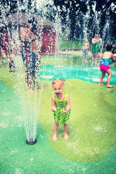 Screaming Splash Pad Girl