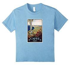 Capri Italy Vintage Italian Travel Poster Shirt - Kids 8 - Baby Blue Shop Italy & Sicily http://www.amazon.com/dp/B017AO3XCU/ref=cm_sw_r_pi_dp_3Wxmwb08X86MT