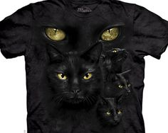 Black Cat Moon Cats and Kittens Shirt